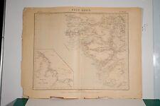 Carte Etat Major service géographique de l'armée FREE TOWN Sierra Léone début XX