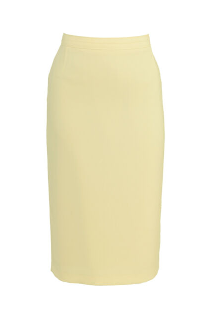Busy Ladies Lemon Yellow Pencil Skirt