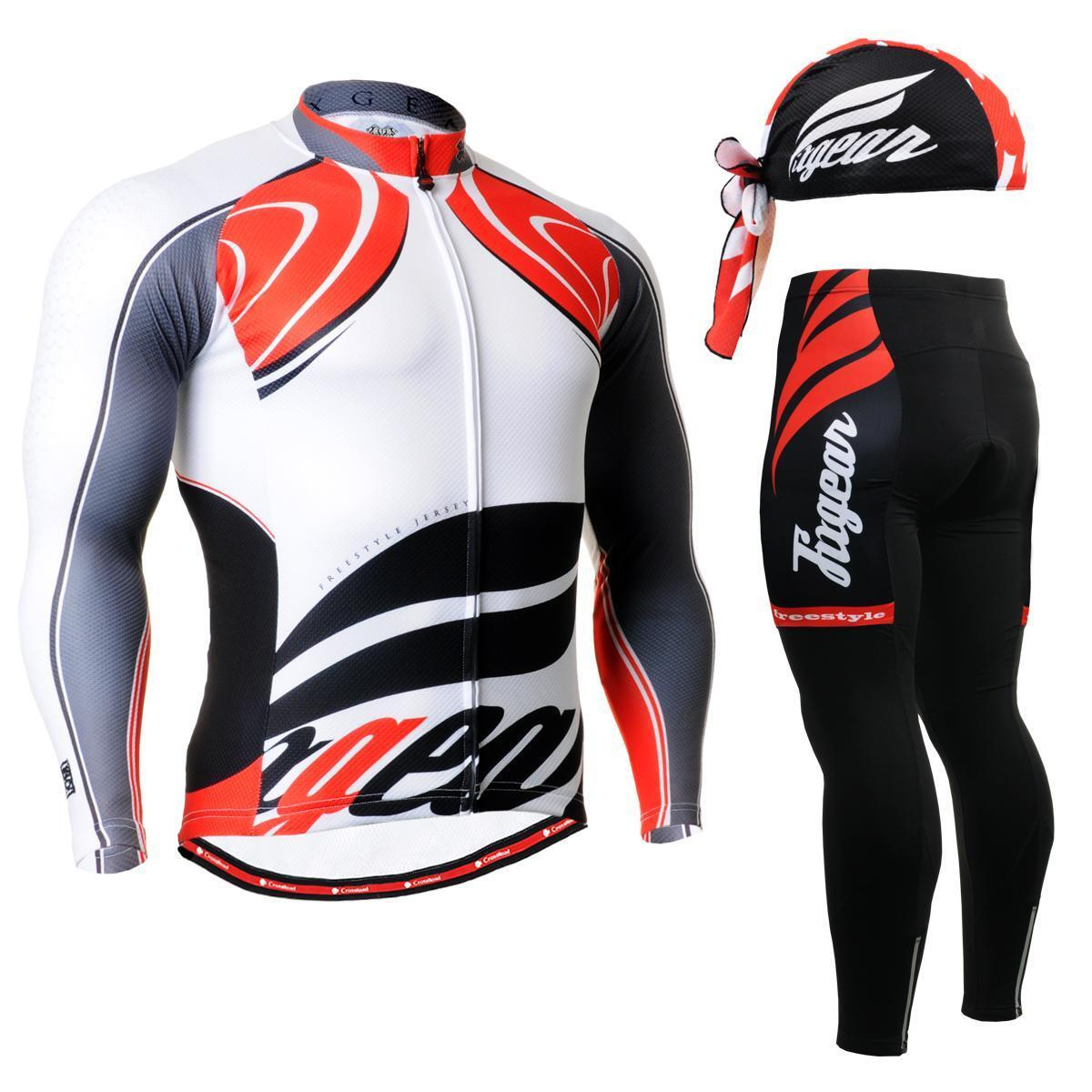 FIXGEAR CS-3601 SET Cycling Jersey & Padded Pants,MTB Bike,BMX,Beanie Free GIFT