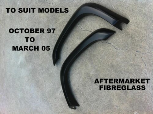 TOYOTA HILUX FRONT FLARES 97 TO 05 MODEL I WITH RUBBER PIPING NEW