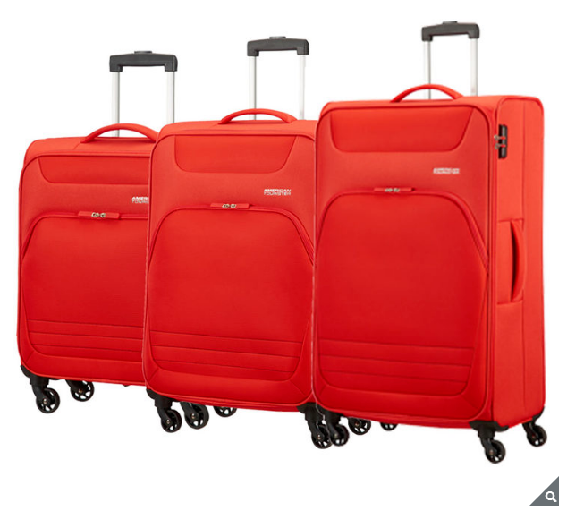 American Tourister Bombay Beach 3 PC Spinner Valise Set, Orange  cabine Med Lrg