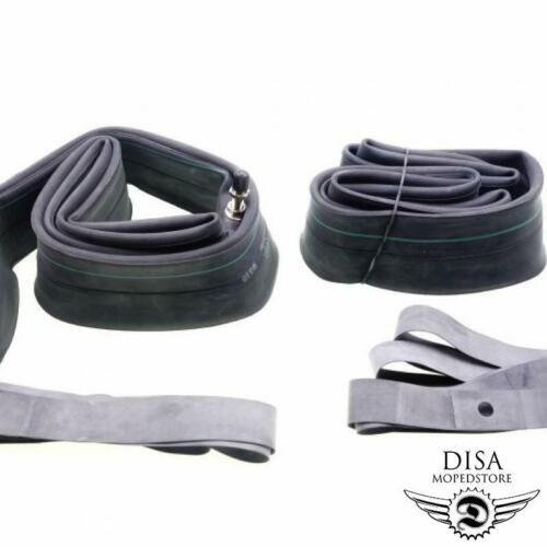 2.75 x 19 Zoll Schlauch Set 2 x Schläuche Felgenband Mofa Moped Mokick NEU *