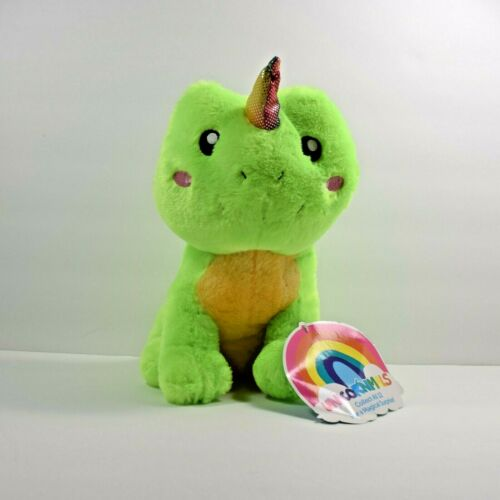 "11/"" FROG Green Unicornimals Sugar Loaf KellyToy Plush"
