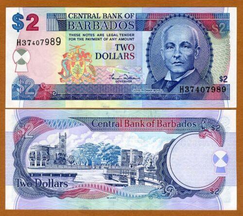 ND 2000 $2 P-60 Barbados UNC