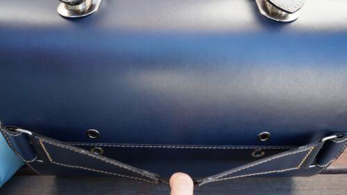 Medium Leder Koffer Gepäckrolle TopCase Tasche Vespa Primavera LXV GTS 946 Blau