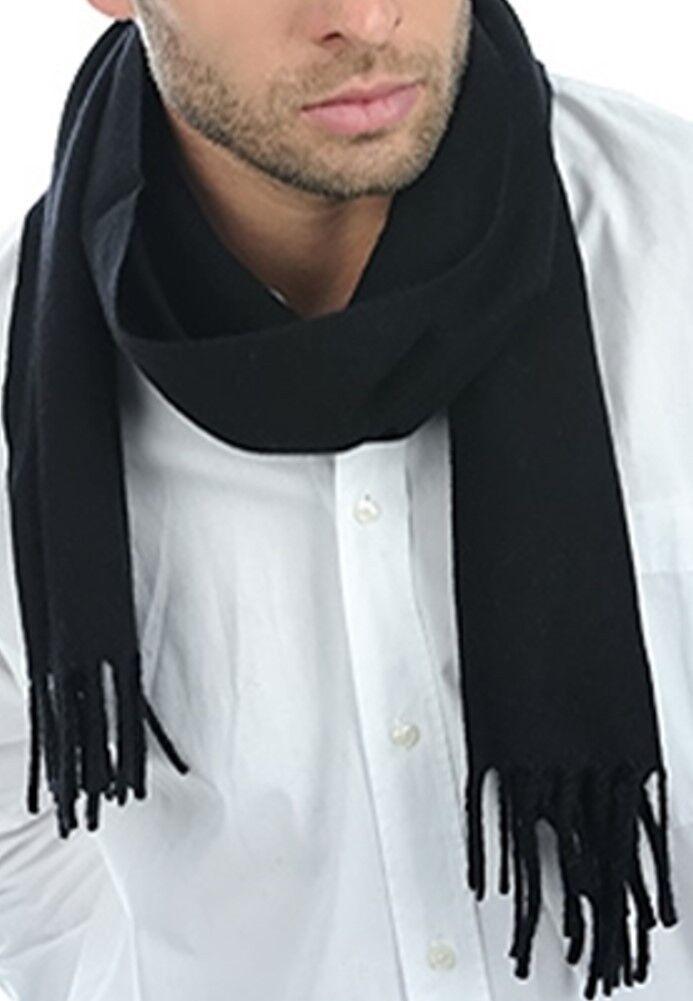 Balldiri 100% Cashmere Schal 170 x 25 cm 4-fädig gewebt schwarz