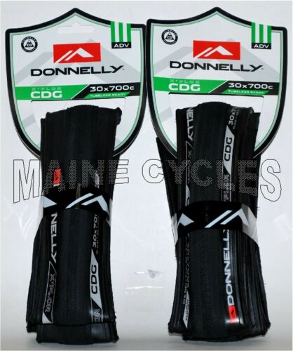 1 pair Donnelly X/'PLOR CDG tubeless ready clincher 700 x 30 all black 2 tires