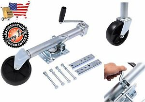 Trailer Tongue Jack Wheel Swivel 1000 lb Capacity Boat Travel Camper Utility NEW