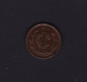 Mexico 1 Cent Coin 1912 Coins North & Central America