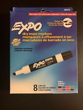 Lot Of 3 Expo 80078 Low Odor Dry Erase Markers Chisel Tip Assorted Colors