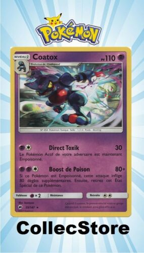 ☺ Carte Pokémon Coatox 55//147 VF NEUVE SL3 Ombres Ardentes