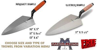 "Marshalltown M3310L Brick Trowel London Pattern 10/"" Leather Handle"