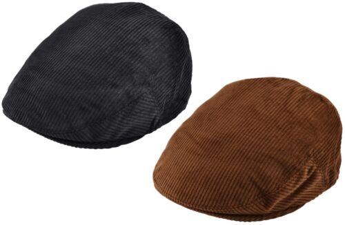 Corduroy Flat Cap Mens or Womens Peaked Cord Cap Lightweight Summer Winter Hat
