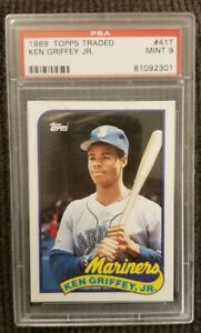 Ken-Griffey-Jr-ROOKIE-1989-Topps-Traded-PSA-9-Card-41T