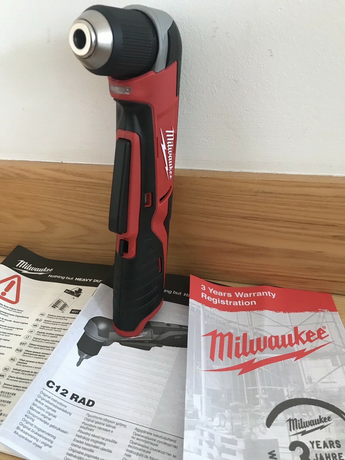 Milwaukee C12RAD-0 M12 12v Compact Right Angle Drill Body Only C12RAD