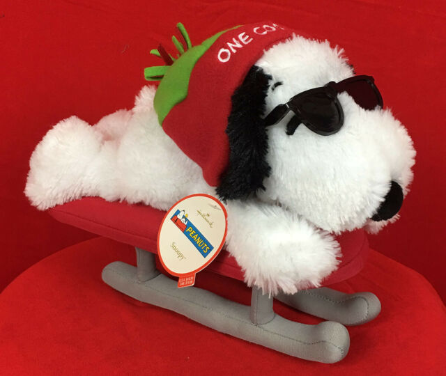 Hallmark 12 Plush Snoopy on Sled One Cool Dude