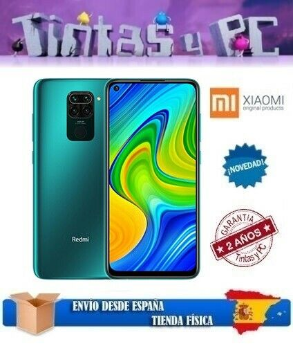 xiaomi: XIAOMI REDMI NOTE 9 128GB VERDE. 4GB RAM. MTK HELIO G85. ¡¡¡VERSION GLOBAL!!!