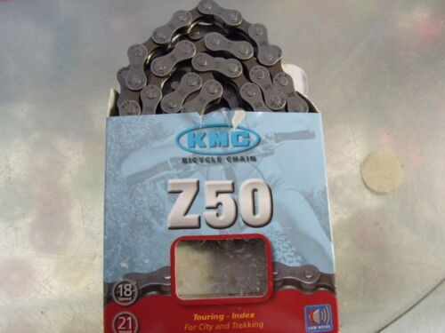 """KMC Z50 18-21 SPEED 1//2/"""" x 3//32/"""" GREY//BROWN BICYCLE CHAIN"""
