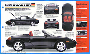 Porsche Boxster Germany 1996-1998 Spec Sheet Brochure Poster IMP Hot Cars 1 #6