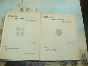 NORTH-J-J-English-Hammered-Coinage-Set-of-2-Volumes-First-Edition