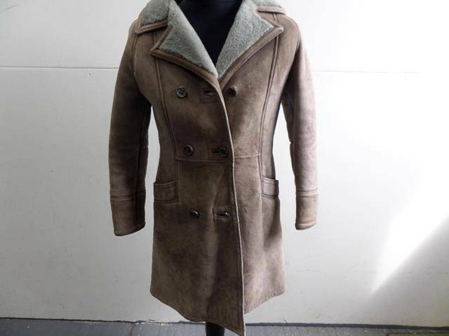 damänner REAL SHEEPSKIN COAT LIGHT braun Größe 32  GOOD CONDITION SKU NO W383