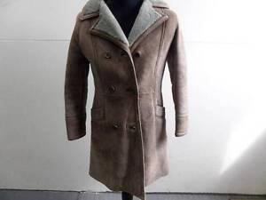 Womens Size Womens lichtbruin schapenvacht Coat Light maat Real Brown 32 32 Sheepskin echte jas UYqY7war
