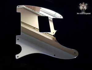 Tele Hh Blacktop Metal Mirror Chrome Humbucker Pickguard Fender