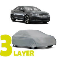 True 3 Layers Gray Fitted Car Cover Outdoor Water Sun Resistant For Ford Taurus