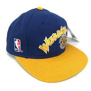 Vintage-Nwt-Dorado-Estado-Warriors-Sports-Specialties-Gorra-Ajustada-Logo-Azul