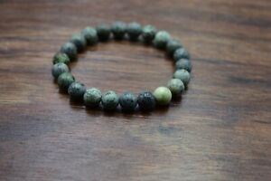 Natural African Turquoise Gemstone 8mm Round Beaded Stretch Adjst. Bracelet