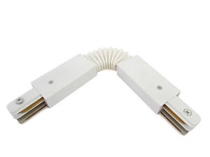 Coupling-Connector-Curved-Flexible-for-Rail-Mono-Phase-White-Double-Te