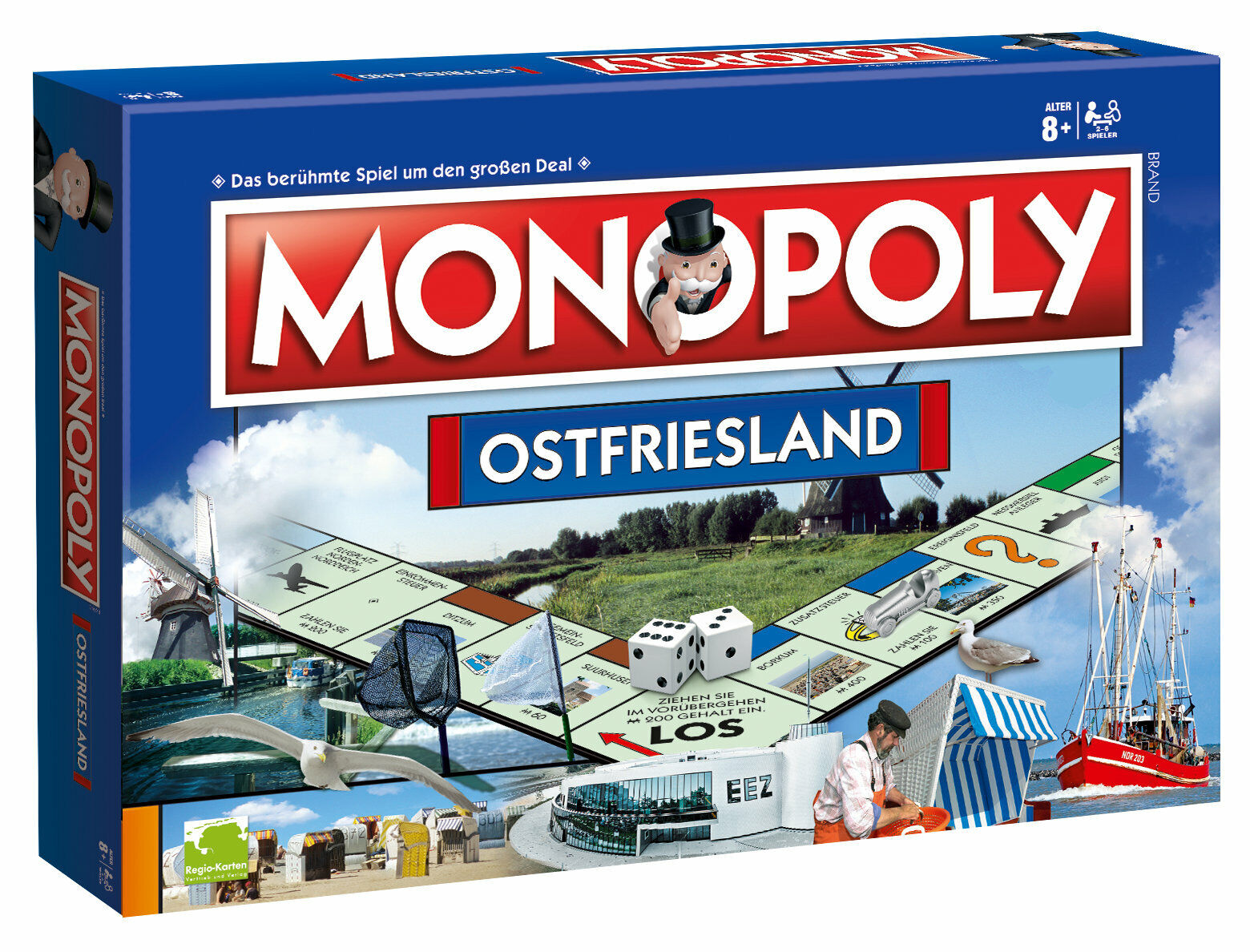 Monopoly East Frisia region edition board game game board game