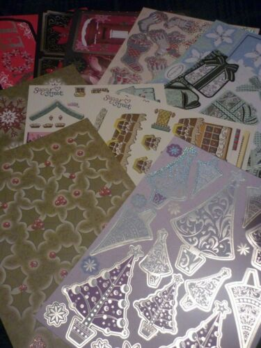 CRAFT STASH CLEAR OUT 15 MIXED SHEETS CHRISTMAS DIE-CUTS TOP BRANDS NO HEADERS