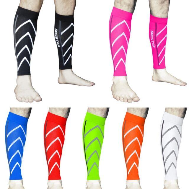 MEISTER COMPRESSION SLEEVES PAIR Running Calf Leg Shin Splints CrossFit S/M/L/XL