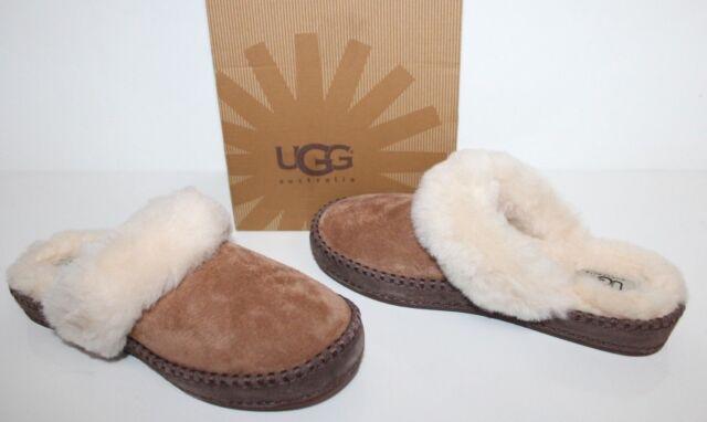 696804b1a52 UGG Australia Aira Chestnut Suede Scuff Slippers Women Size 5