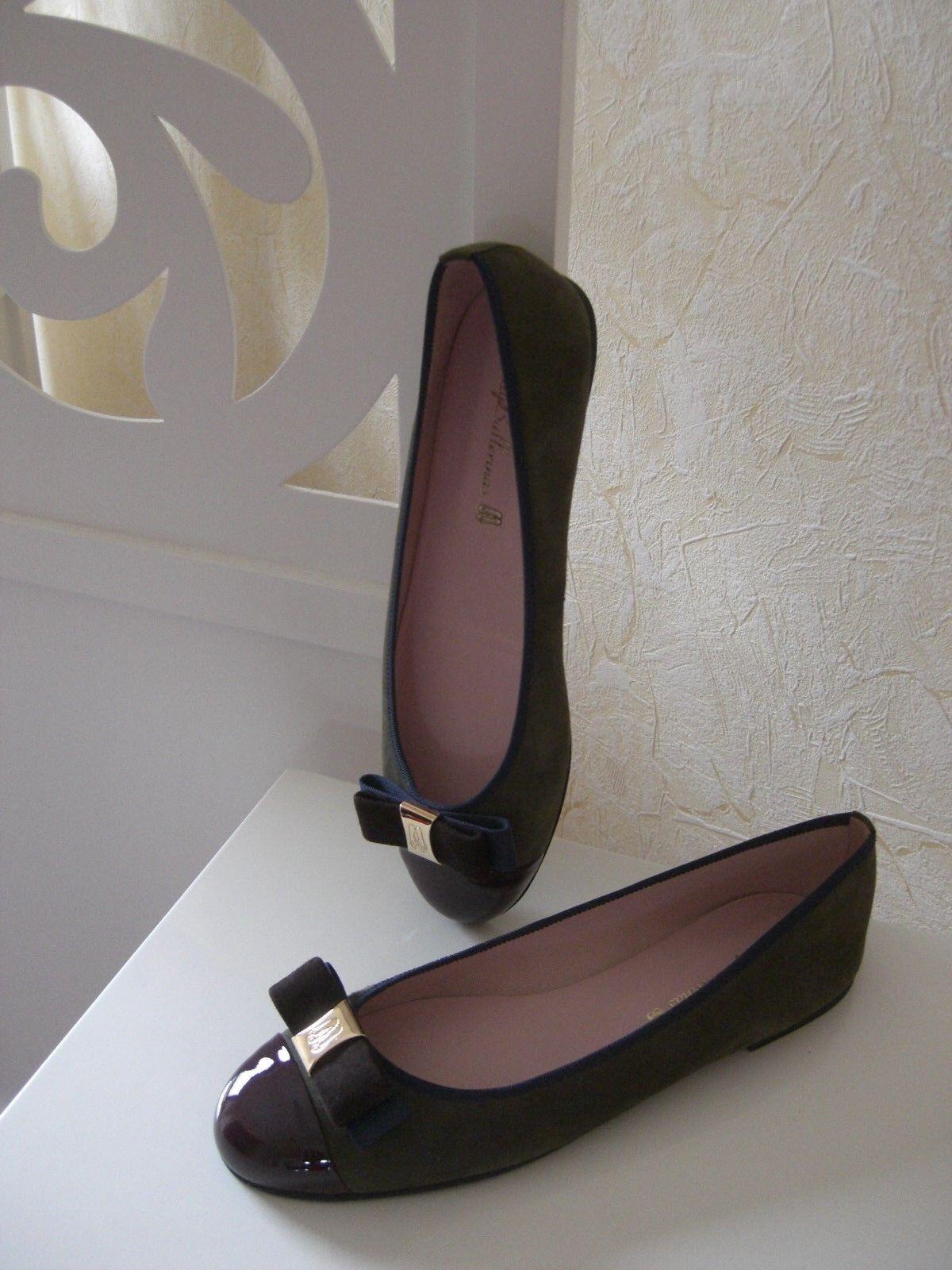online Pretty Ballerinas Nubukleder Lackleder Größe 41 NEU