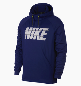 Nike Boys Long Sleeve Lt Photo Blue Polyester Pullover Hooded Dri-Fit MSRP $28