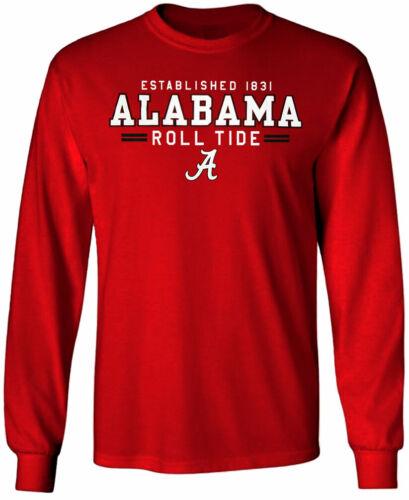 Alabama Crimson Tide Shirt T-Shirt Long Sleeve