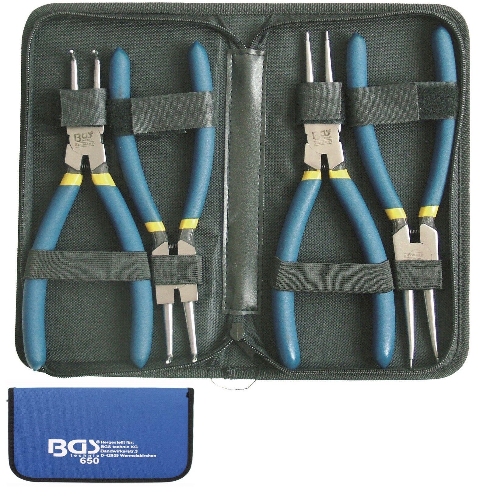 BGS  4x Sicherungsring Zange Satz Sprengringzange Sprengring Sicherungsringzange | Creative  | Feinen Qualität  | Große Auswahl  | Good Design