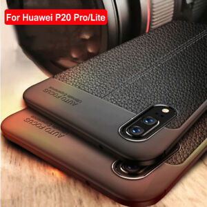 wholesale dealer 1d8b8 3f48f Details about For Huawei P20 Pro Lite Shockproof Leather Slim Rubber TPU  Bumper Case Cover