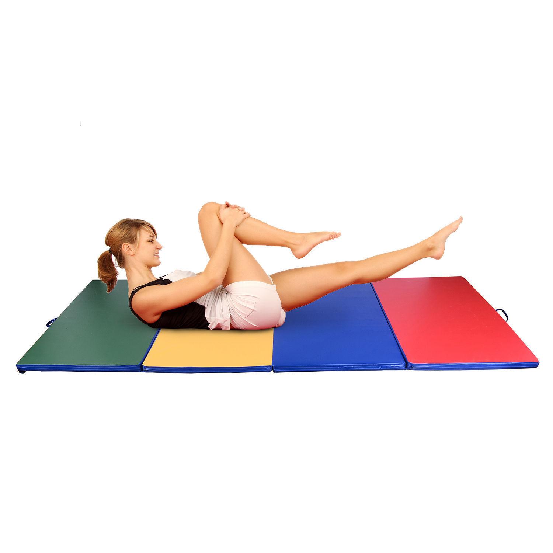 HOMCOM Large Folding Exercise Mat Gym Yoga Soft Workout Fitness Gymnastics Play