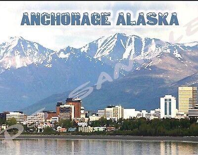 Alaska Travel Souvenir Flexible Fridge Magnet ANCHORAGE