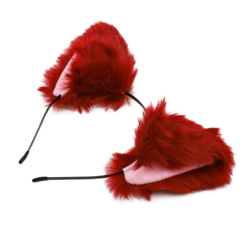 Glitter Sequins Cat Fox Ears Headband Girls Costume Hair Hoop Plush Hairband
