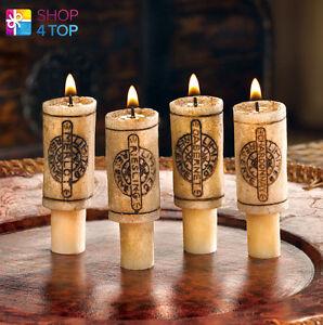 wine bottle cork candles set romantic dinner home decor