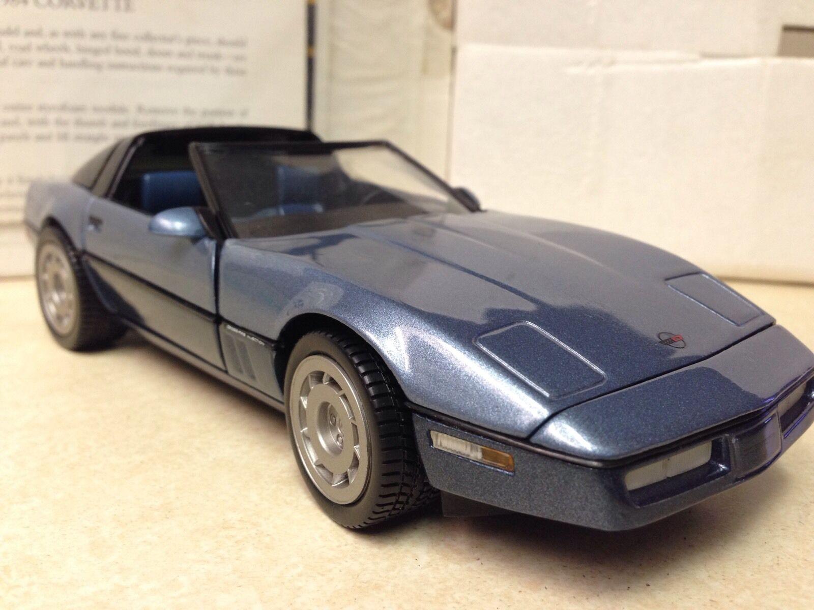 1 24 FRANKLIN Comme neuf ERROR Edition Bleu 1984 Corvette B11VB58 Chevy Chevrolet