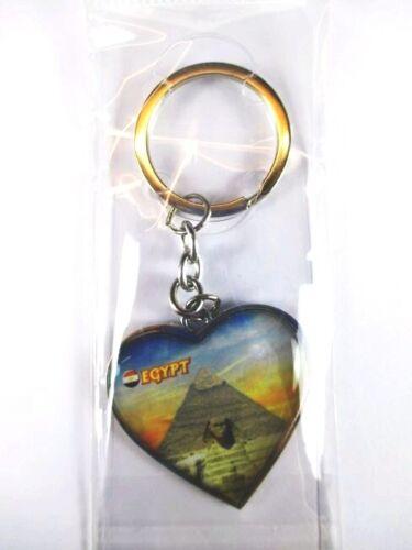 Ägypten Pyramiden Schlüsselanhänger Herz Epoxid Keyring Egypt Souvenir,10cm