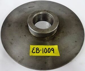 """6-1//2"""" Lathe Chuck Adapter Plate 2-1//8 10 Spindle Thread 5//8"""" Thickness"""
