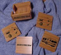 Airstream Travel Trailer / Motorhome Bamboo Coaster Set 5 Pcs. Laser Eng.