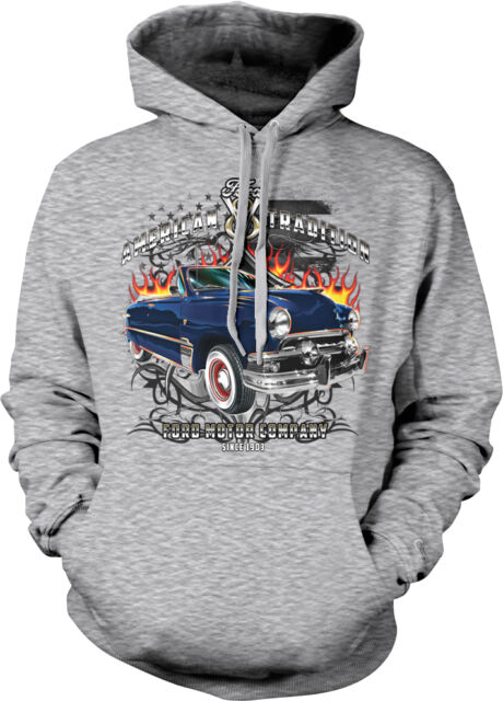American Tradition Ford Motor Company 1903 V8 Classic Cars Trucks Mens Hoodie