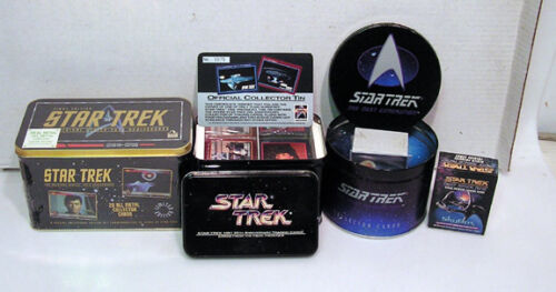 Lot of 4 Star Trek Early 1990s Trading Card Tin Collections L5272CCNV